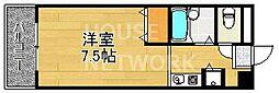 京都府京都市中京区梅之木町の賃貸マンションの間取り