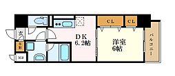 ル・ソレイユ 7階1DKの間取り