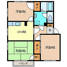 フレグランス長池B棟[2階]の間取り