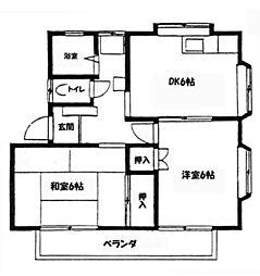 ウイングヤマシタ[A201号室]の間取り