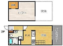 Full House Wakazono[202号室]の間取り