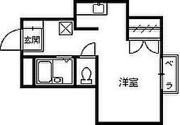 レンタルハウス深津II[202号室]の間取り