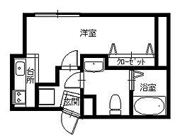 長崎県長崎市銅座町の賃貸マンションの間取り