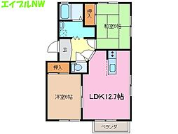 カーサムジカーレ A棟[1階]の間取り