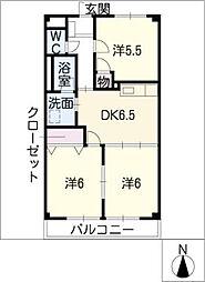 ツインベルテA棟[2階]の間取り