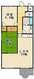 ガーデンスクエア瀬田[406号室]の間取り