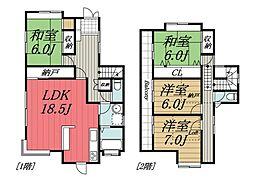 [一戸建] 千葉県千葉市若葉区御成台2丁目 の賃貸【/】の間取り