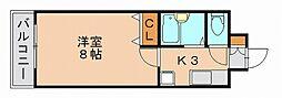 リファレンスリバーサイド[4階]の間取り