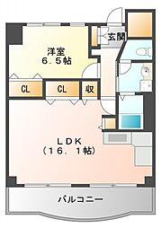 松籟マンション[10階]の間取り