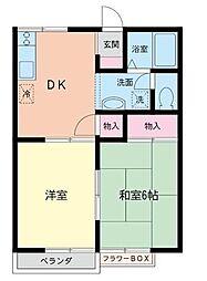 クレインハウス[1階]の間取り