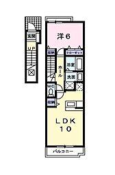 ラ クール[2階]の間取り