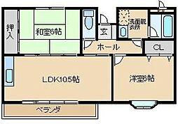 コンフォートI[1階]の間取り