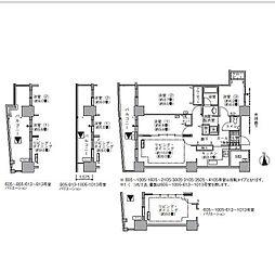 JR山手線 浜松町駅 徒歩3分の賃貸マンション 10階3LDKの間取り