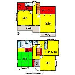 [一戸建] 千葉県市原市国分寺台中央3丁目 の賃貸【/】の間取り