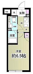 (仮称)AGRATIO目黒本町 4階1Kの間取り