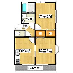 KMS・S4 A-1[2階]の間取り