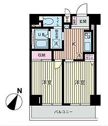 ファーストクラス南太田[4階]の間取り