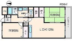 クレインコトブキ[2階]の間取り