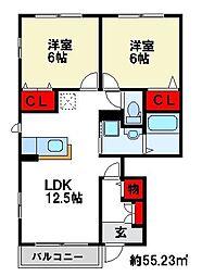 アベニューMII番館I[1階]の間取り