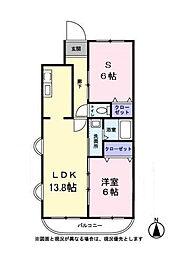 ハートヒルズ1番館[1階]の間取り