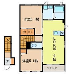 Pastoral cottage[2階]の間取り