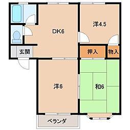 コーポラス松尾A・B[2階]の間取り