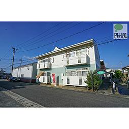 岡山県岡山市中区倉田の賃貸アパートの外観