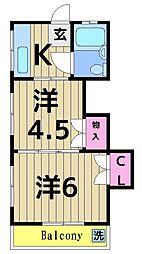 マルイコーポ[3階]の間取り