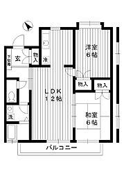 東京都練馬区大泉町の賃貸アパートの間取り
