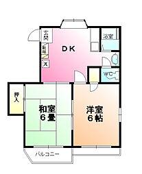 黒田コーポ[2階]の間取り