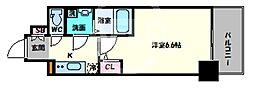 エスリード大阪上本町グリーズ 14階1Kの間取り