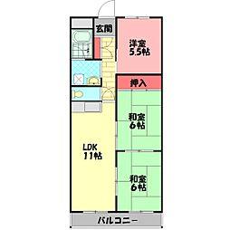 GMパーク錦通(旧パークハイム錦) 5階3LDKの間取り