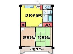 愛媛県松山市六軒家町の賃貸マンションの間取り