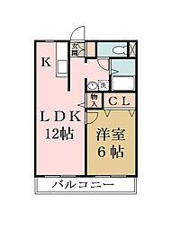 ヨシジハイム[3階]の間取り