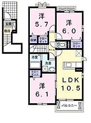 ル・グラン矢三 I[201号室]の間取り