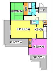 コーポレート中清戸2号棟[2階]の間取り