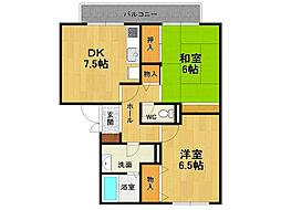 グリーンハウス新伊丹[1階]の間取り