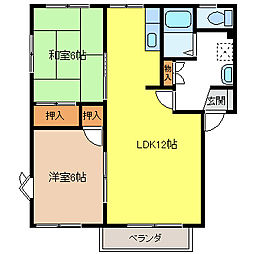 フレグランスK B[2階]の間取り