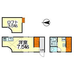 KANRA梅島[103号室]の間取り