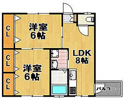 ReFINE西九条[3階]の間取り