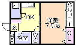 石村ビル[3階]の間取り