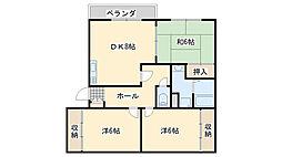 ネオライフ阪南[3階]の間取り