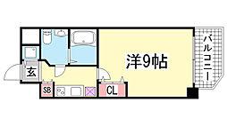 S-RESIDENCE神戸磯上通[10階]の間取り