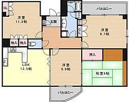 グランフォルム京都祇園[503号室号室]の間取り