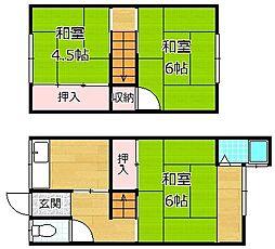 [テラスハウス] 大阪府枚方市渚元町 の賃貸【/】の間取り