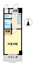 現代ハウス大須[8階]の間取り