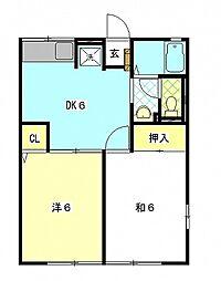 レトアイワザキ[2階]の間取り