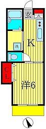 KHKハイツオータムバレイ[1階]の間取り