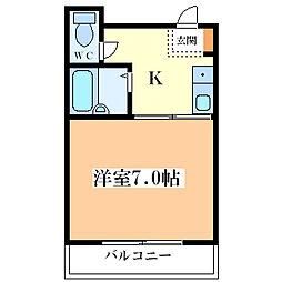 パークヒル塚本[102号室]の間取り