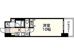 JR山陽本線 広島駅 徒歩20分の賃貸マンション 12階1Kの間取り